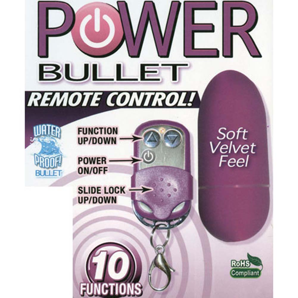 """Power Mini Bullet with Wireless Remote Control 3"""" Purple - View #3"""