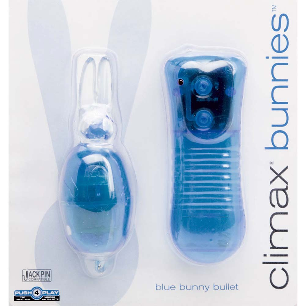 Climax Bunnies Vibrating Bullet with Remote Control Blue - View #1