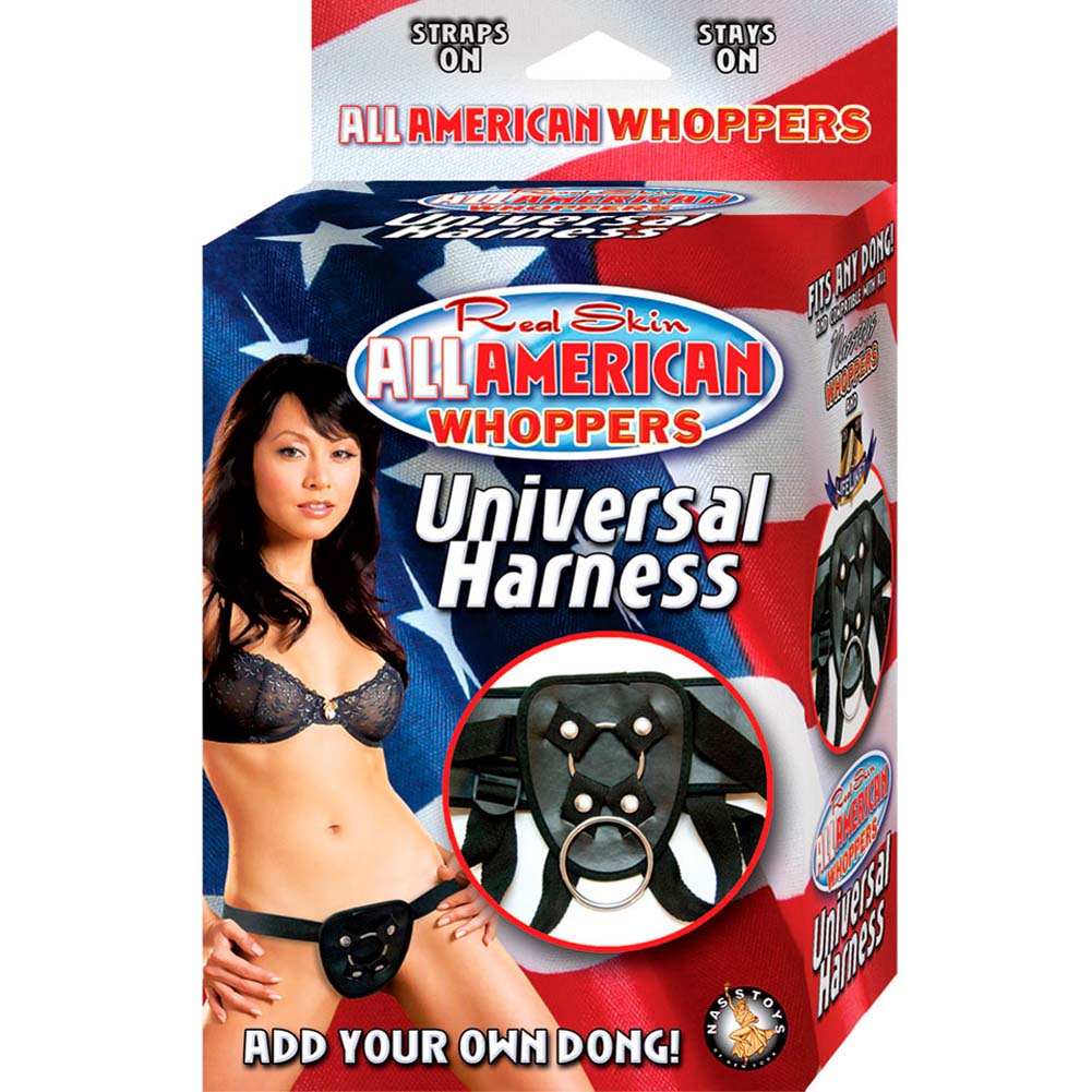 All American Whoppers Universal Strap-On Harness Black - View #4