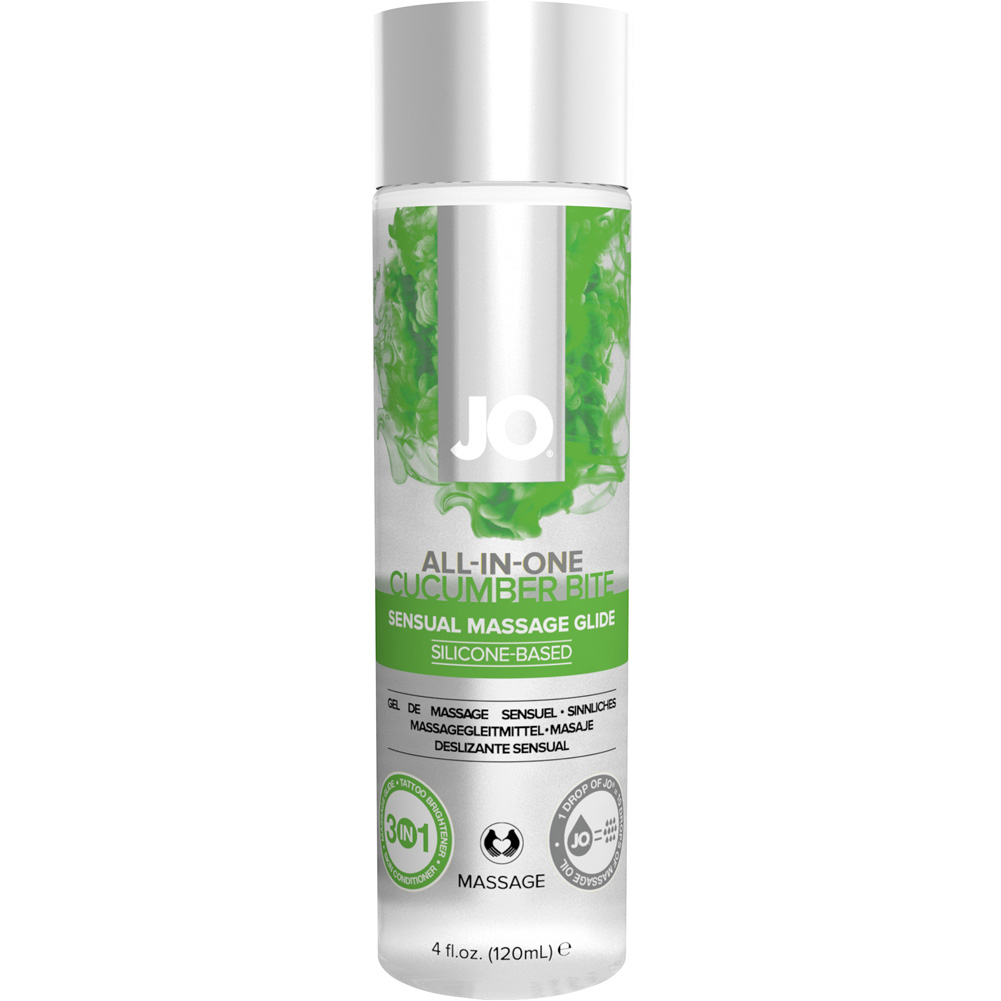 System JO All in One Massage Lube 4 Fl.Oz Cucumber - View #1