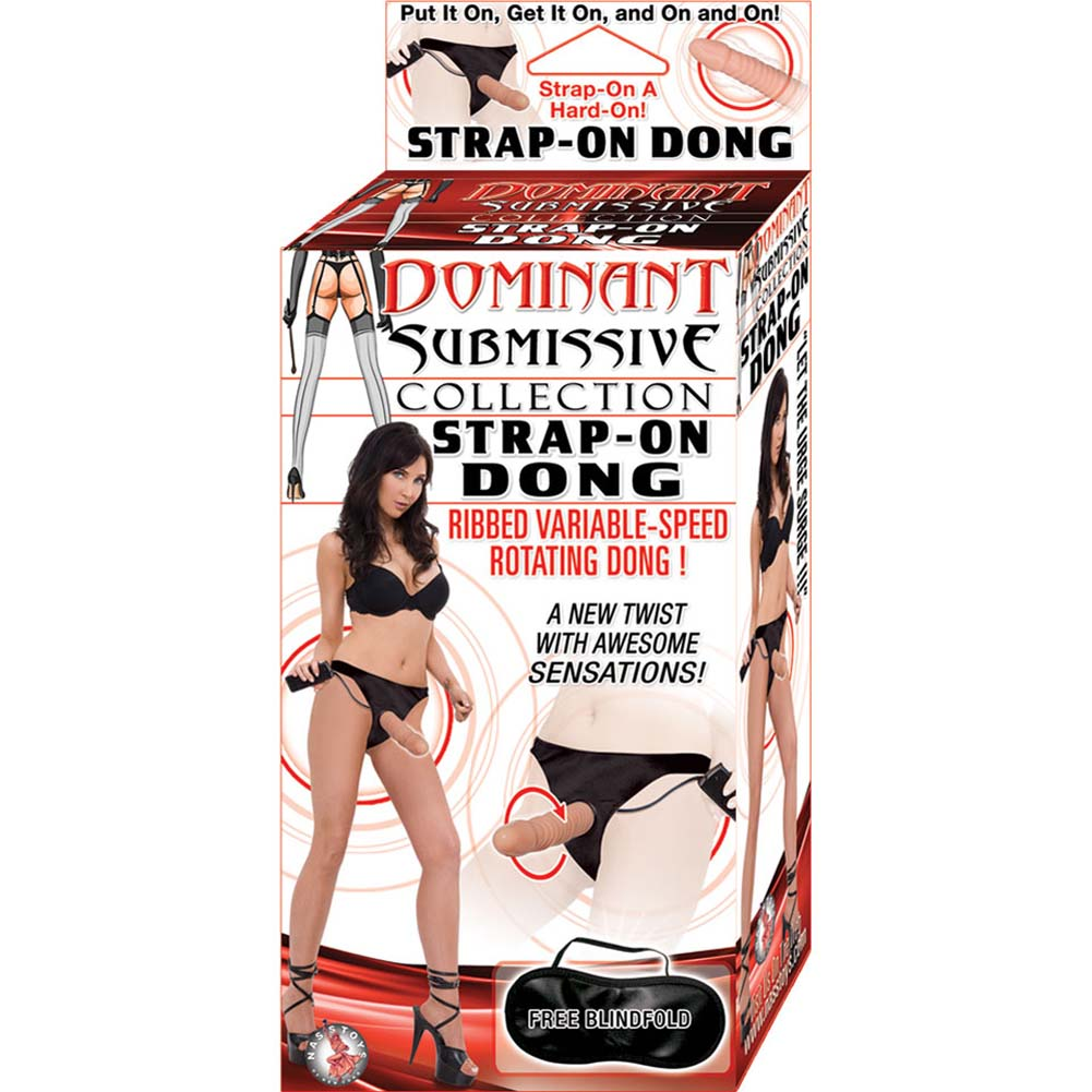 """Nasstoys Dominant Submissive Strap-On Vibrating Dong 5.5"""" Flesh - View #3"""