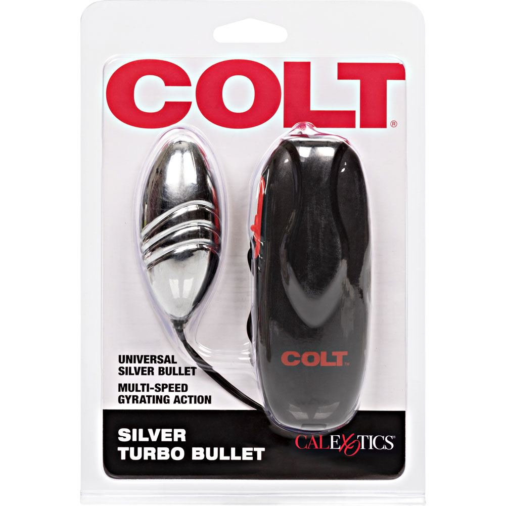 "COLT by CalExotics Vibrating Turbo Bullet 3"" Silver - View #4"