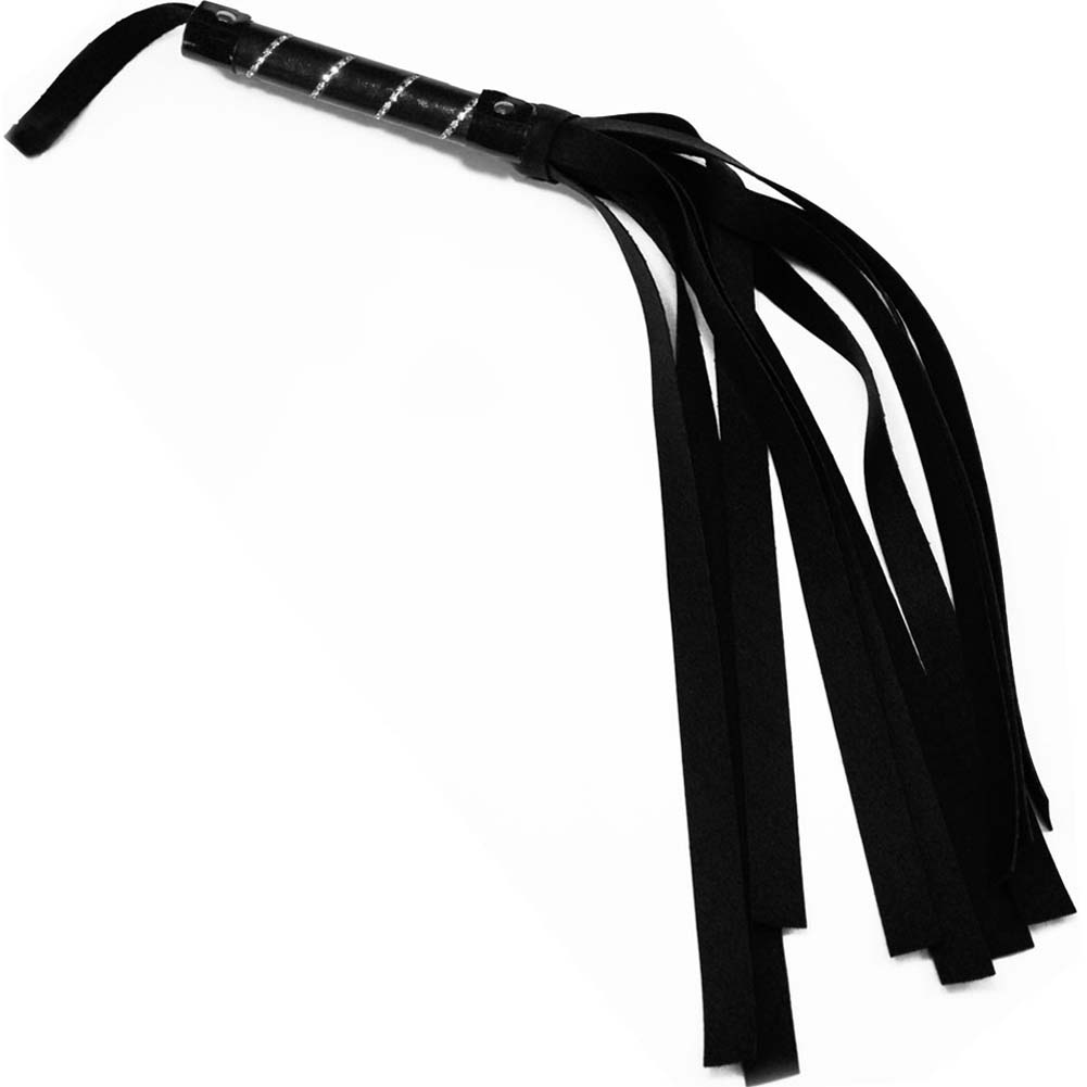 "Sex and Mischief SM Jeweled Flogger 30"" Black - View #3"
