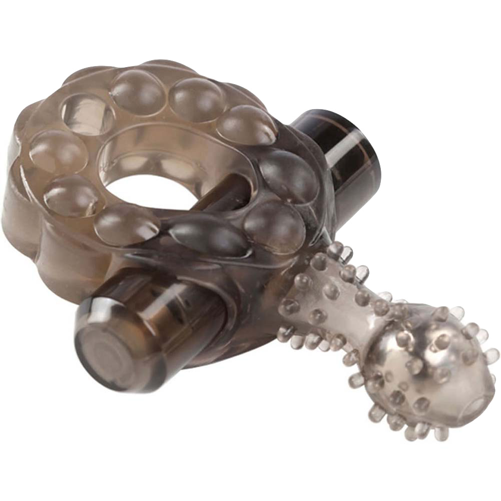 Crossbones Mighty Marble Single Bullet Vibrating Cockring for Lovers Smoke - View #2
