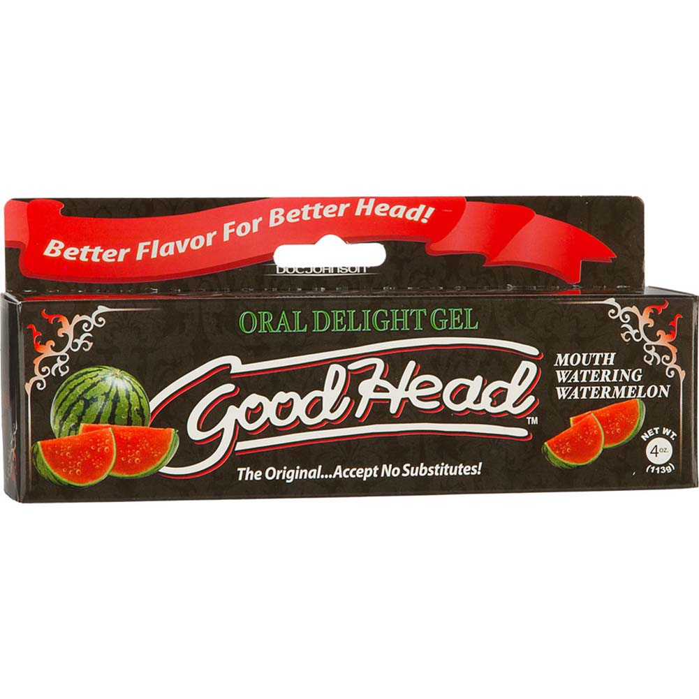 GoodHead Oral Delight Gel for Lovers 4 Ounce 113 G Watermelon - View #1