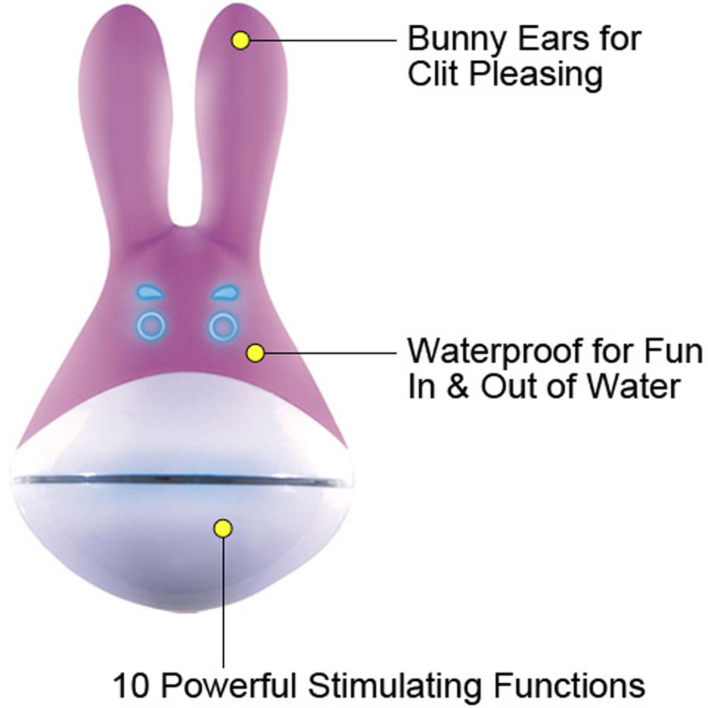 Muse Silicone Rechargeable Vibrating Rabbit Massager Purple - View #1