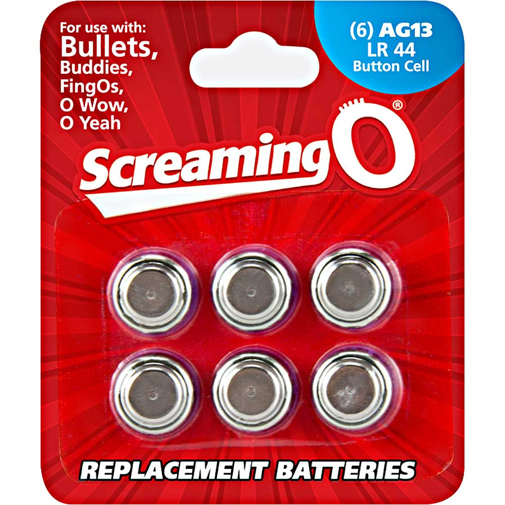 Screaming O AG13 LR44 Button Cell Battery 6 Pack - View #1