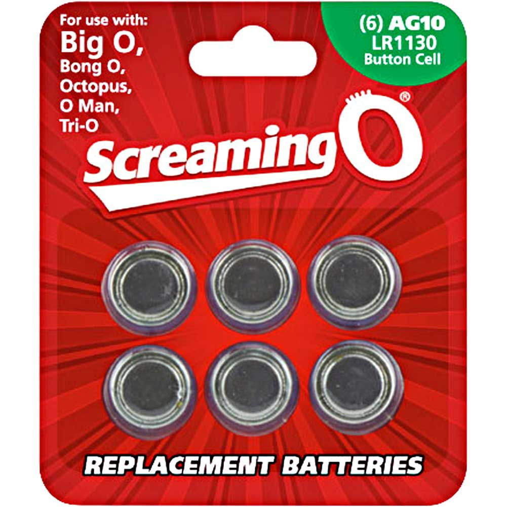 Screaming O AG10 LR1130 Button Cell Battery 6 Pack - View #1