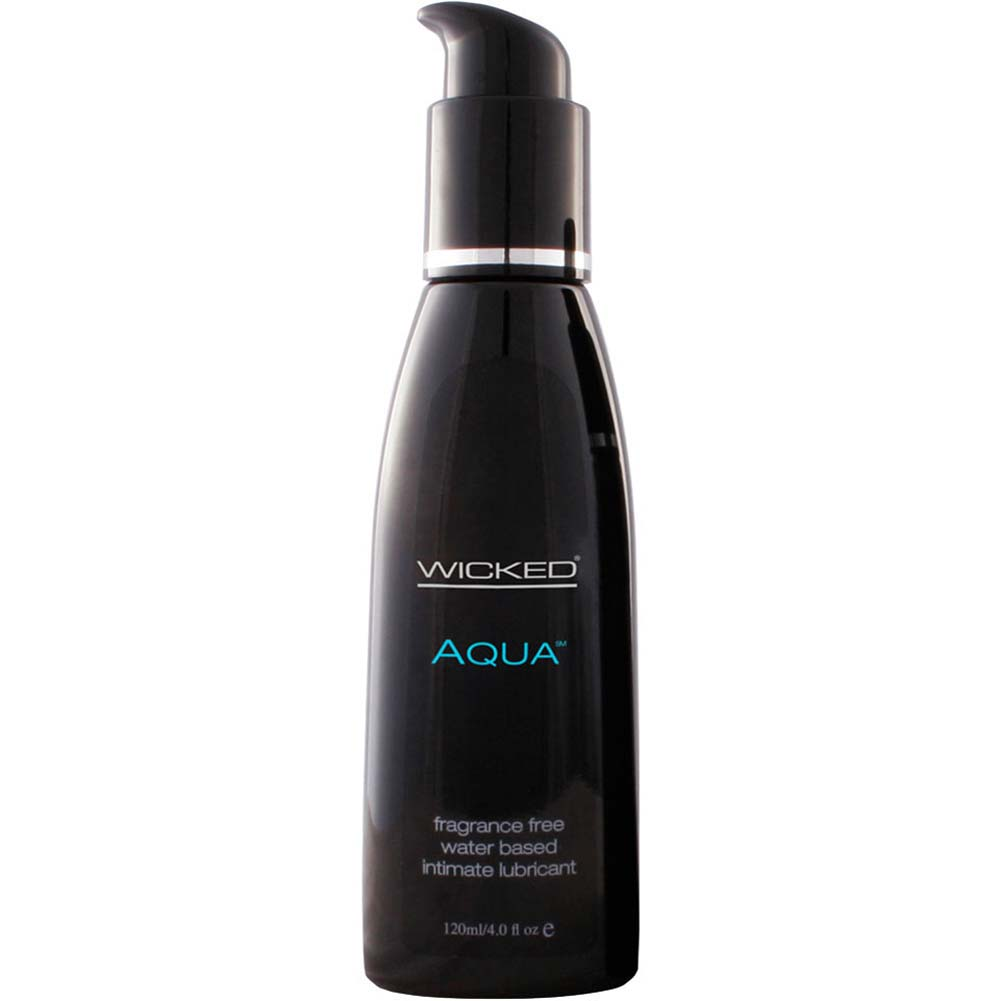 Wicked Aqua Water Based Intimate Lubricant 4 Fl.Oz 120 mL - View #1
