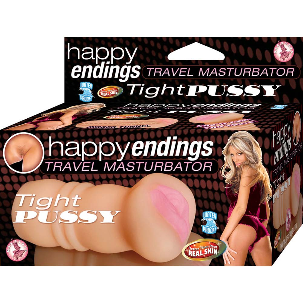 Happy Endings Travel Masturbator Tight Pussy Natural Flesh - View #1