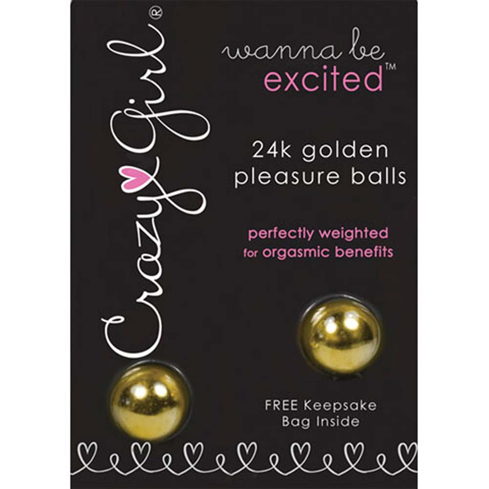 Crazy Girl Wanna Be Excited 24k Golden Pleasure Balls - View #1