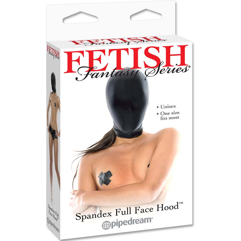 Fetish Fantasy Series Spandex Full Face Hood Black - View #1