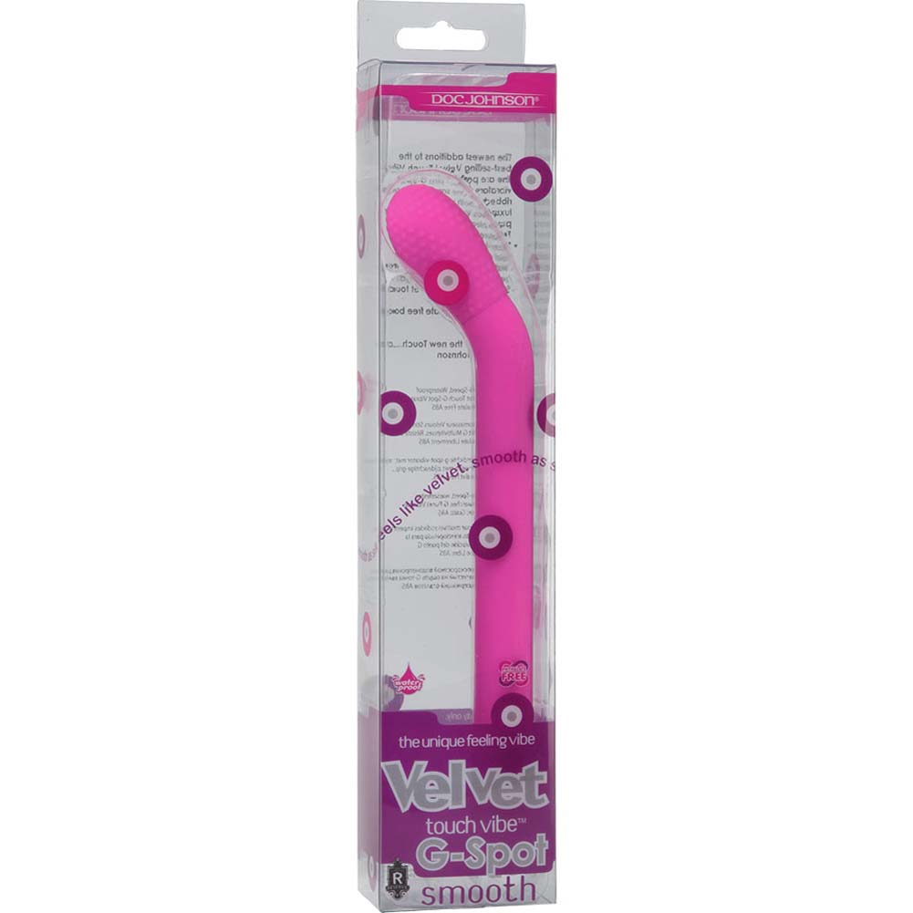 "Velvet Touch G-Spot Smooth Waterproof Vibrator 7"" Pink - View #1"