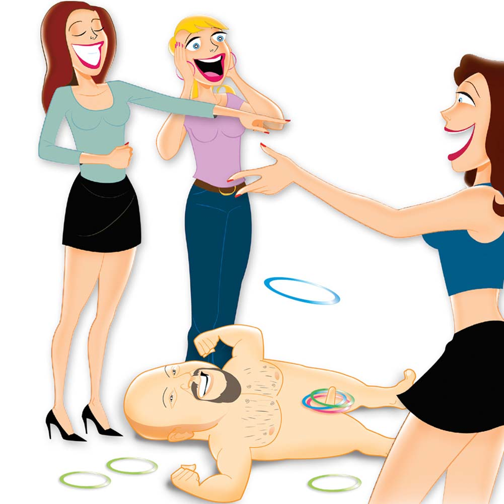 Bachelorette Party Favors Midget Man Inflatable Ring Toss - View #1