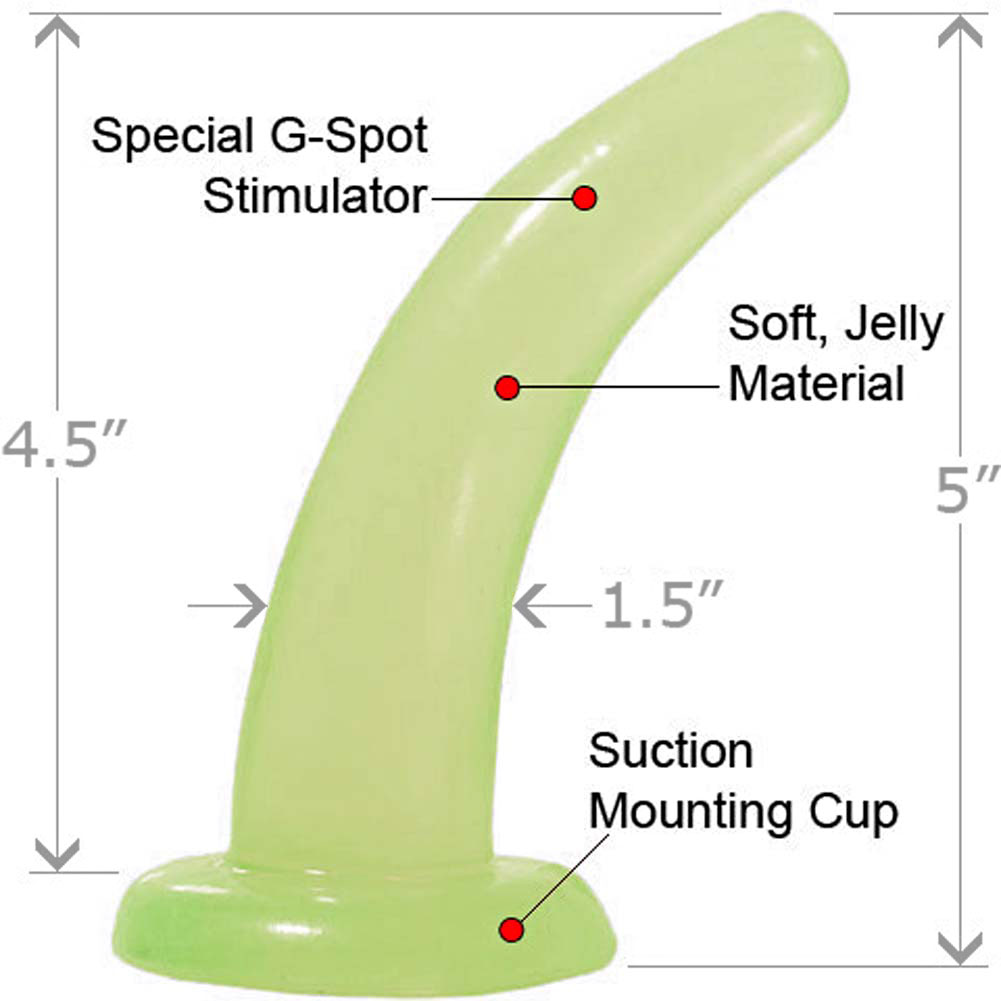 "Basix Rubber Works His and Her G-Spot Butt Plug 5"" Glow in the Dark - View #1"