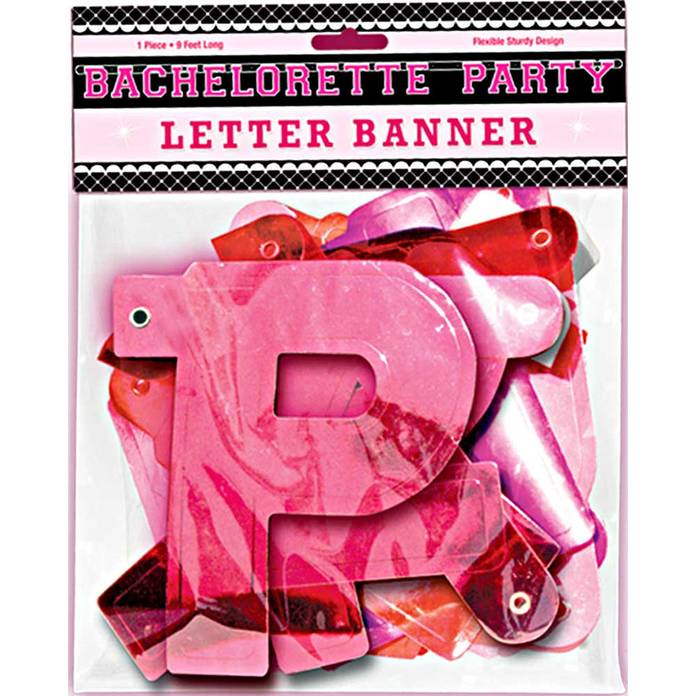 Bachelorette Party Letter Banner 9 Feet Pink - View #1