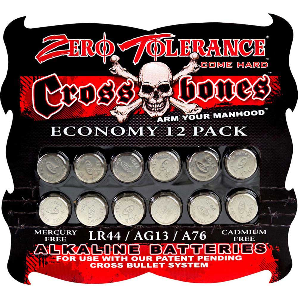 Crossbones LR44 Alkaline Batteries 12 Pack - View #1