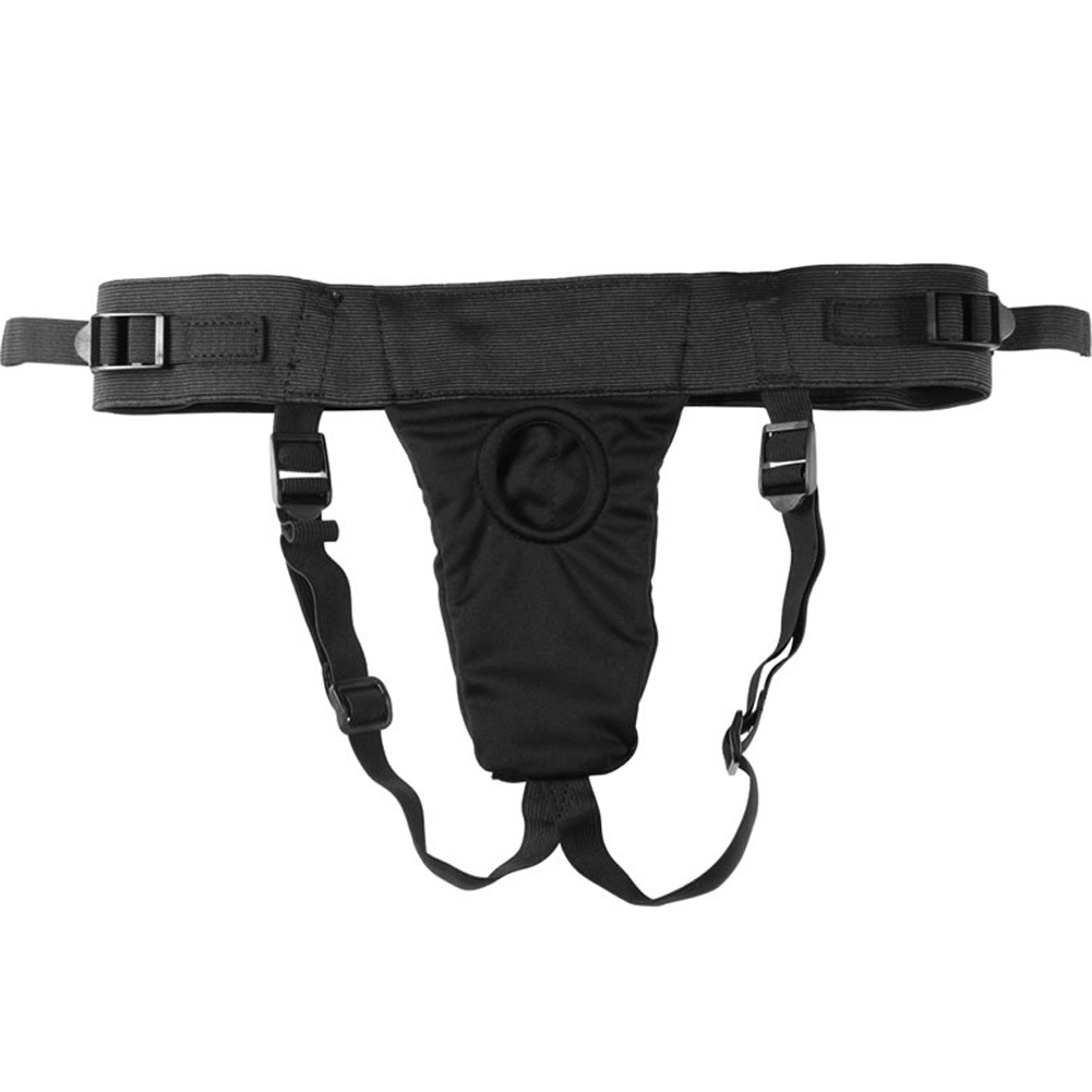 Harness the Revolt Velvet Strap-On Harness Black - View #2