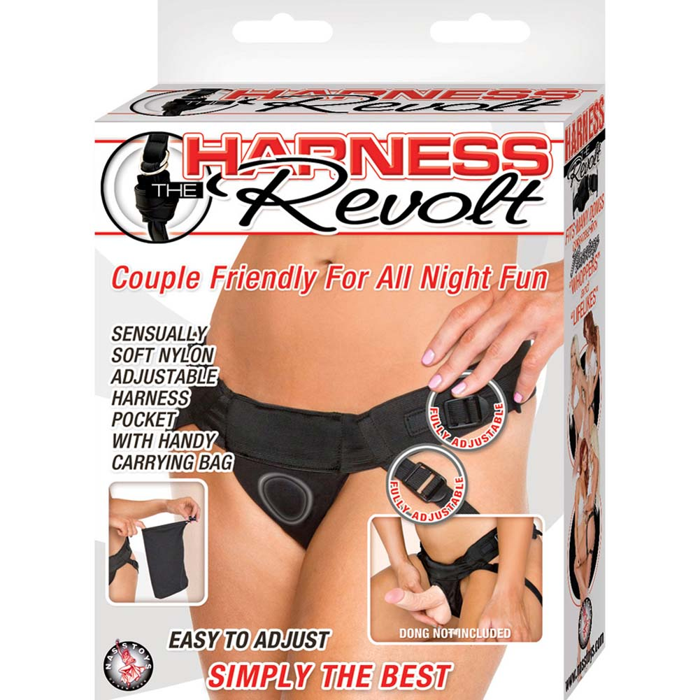 Harness the Revolt Velvet Strap-On Harness Black - View #4
