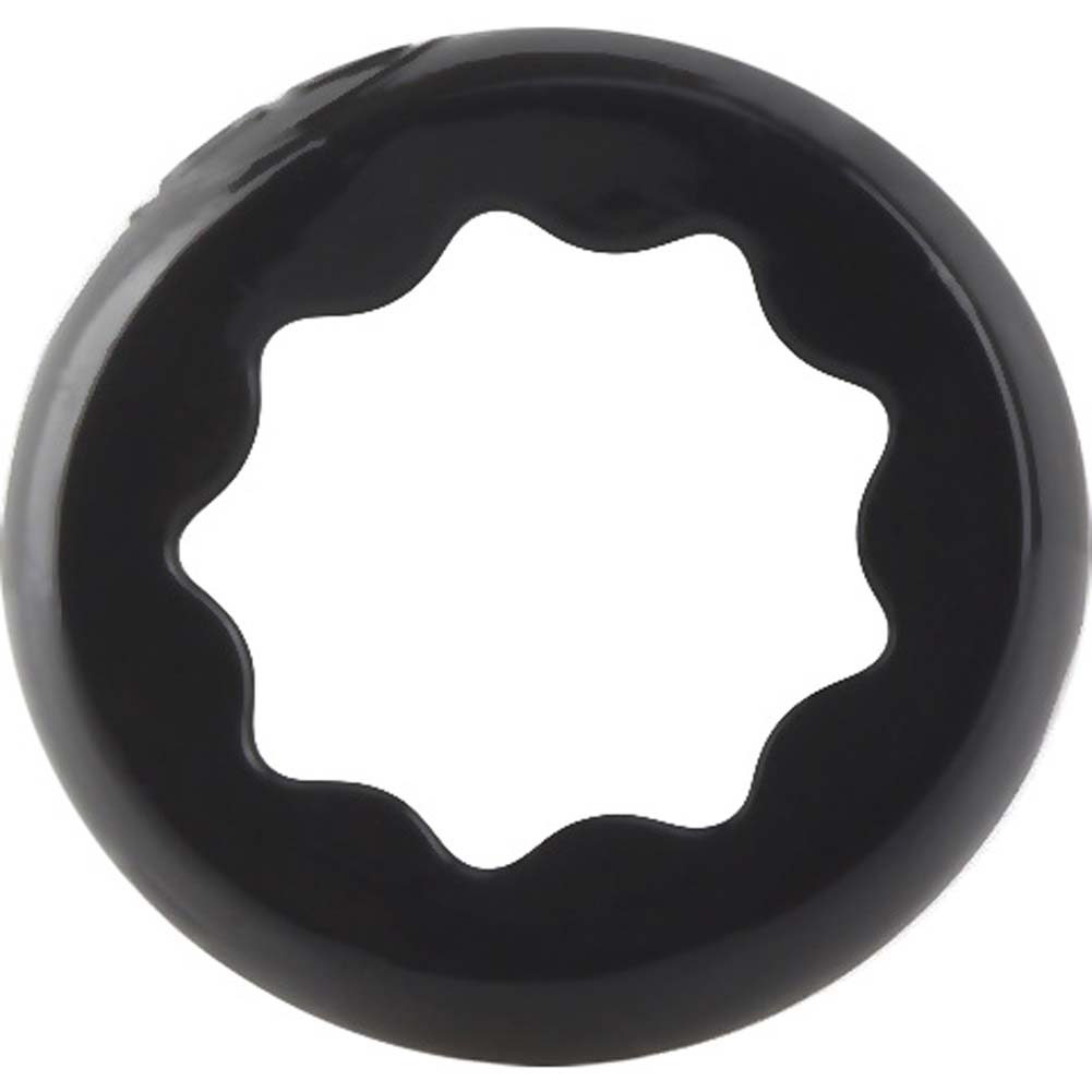 Screaming O RingO Ranglers Spur Silicone Cockring Black - View #3