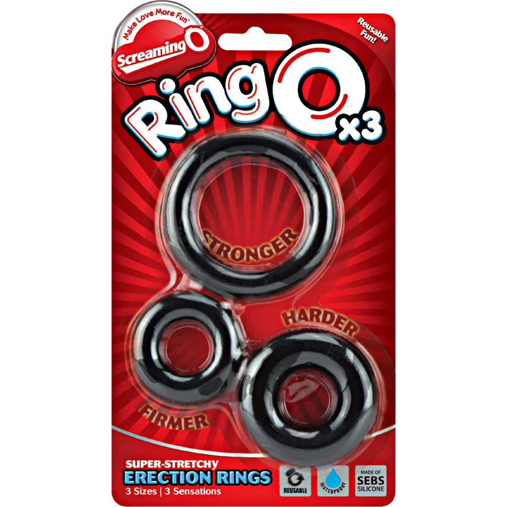 Screaming O RingO 3 Pack Silicone Erection Rings Black - View #4