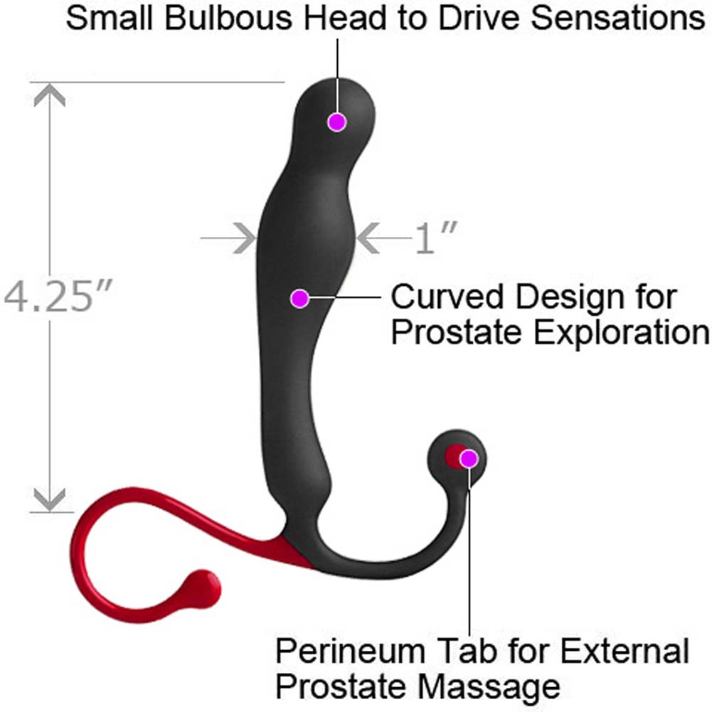 "Aneros Eupho Syn Male Prostate Stimulator 4.25"" Black - View #1"