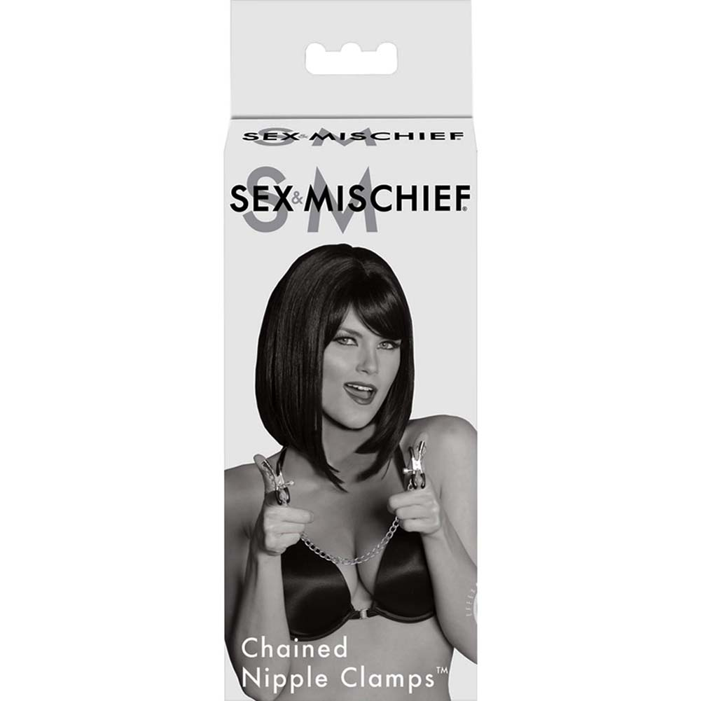 Sex and Mischief S M Chained Nipple Clamps - View #1