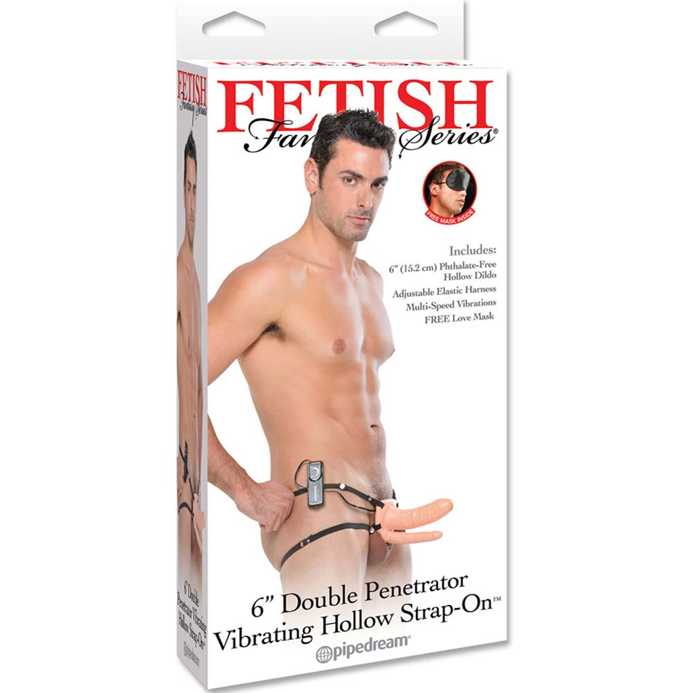 Fetish Fantasy Vibrating Double Penetrator Hollow Strap-On Natural Flesh - View #4