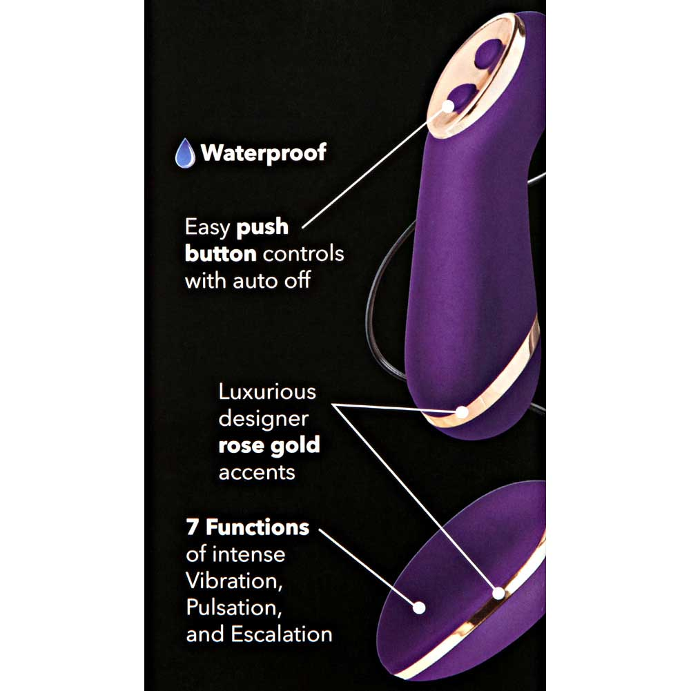"California Exotics Entice Ella 7 Functions Vibrating Egg 2.5"" Purple - View #1"