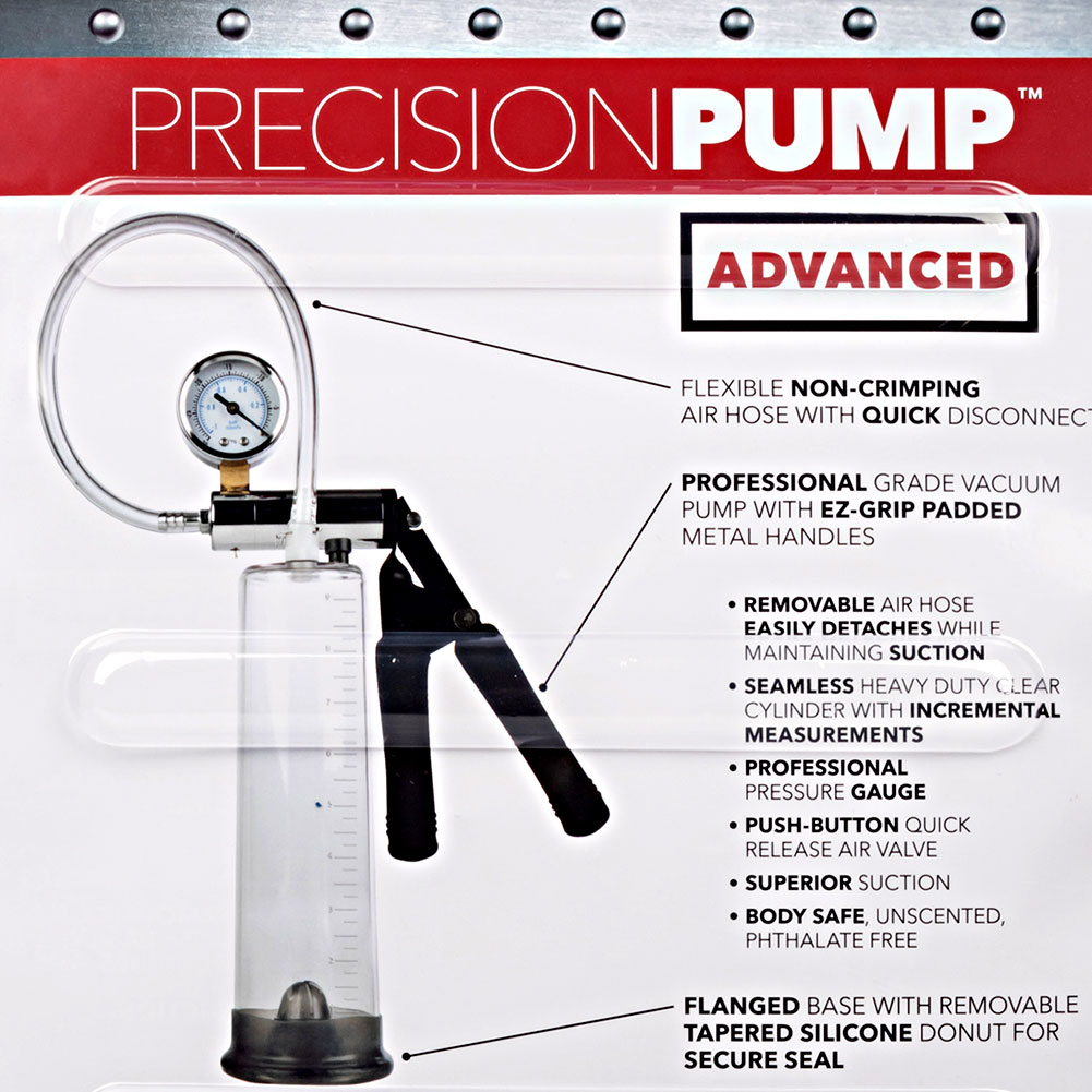 "Precision Pump Advanced Penis Pump 9.5"" by 2.5"" Clear - View #1"