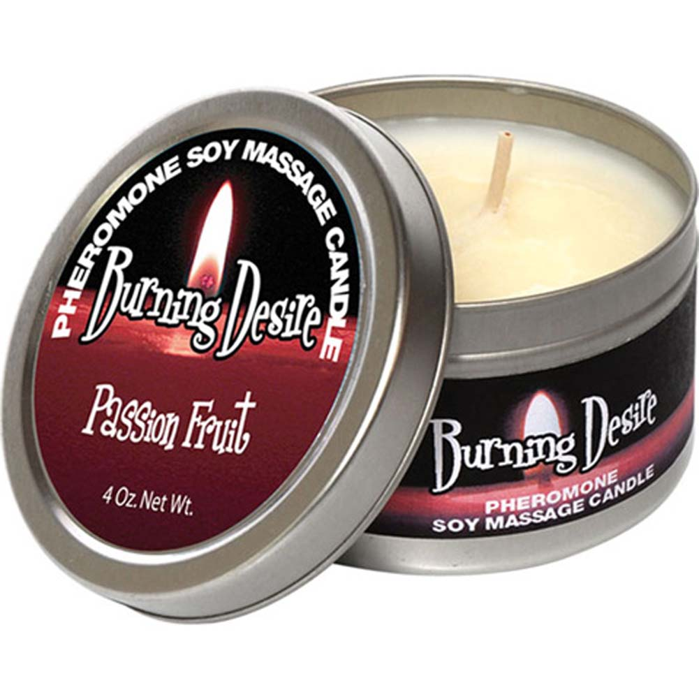 Burning Desire Pheromone Soy Massage Candle 4 Ounce 113 G Passion Fruit - View #2