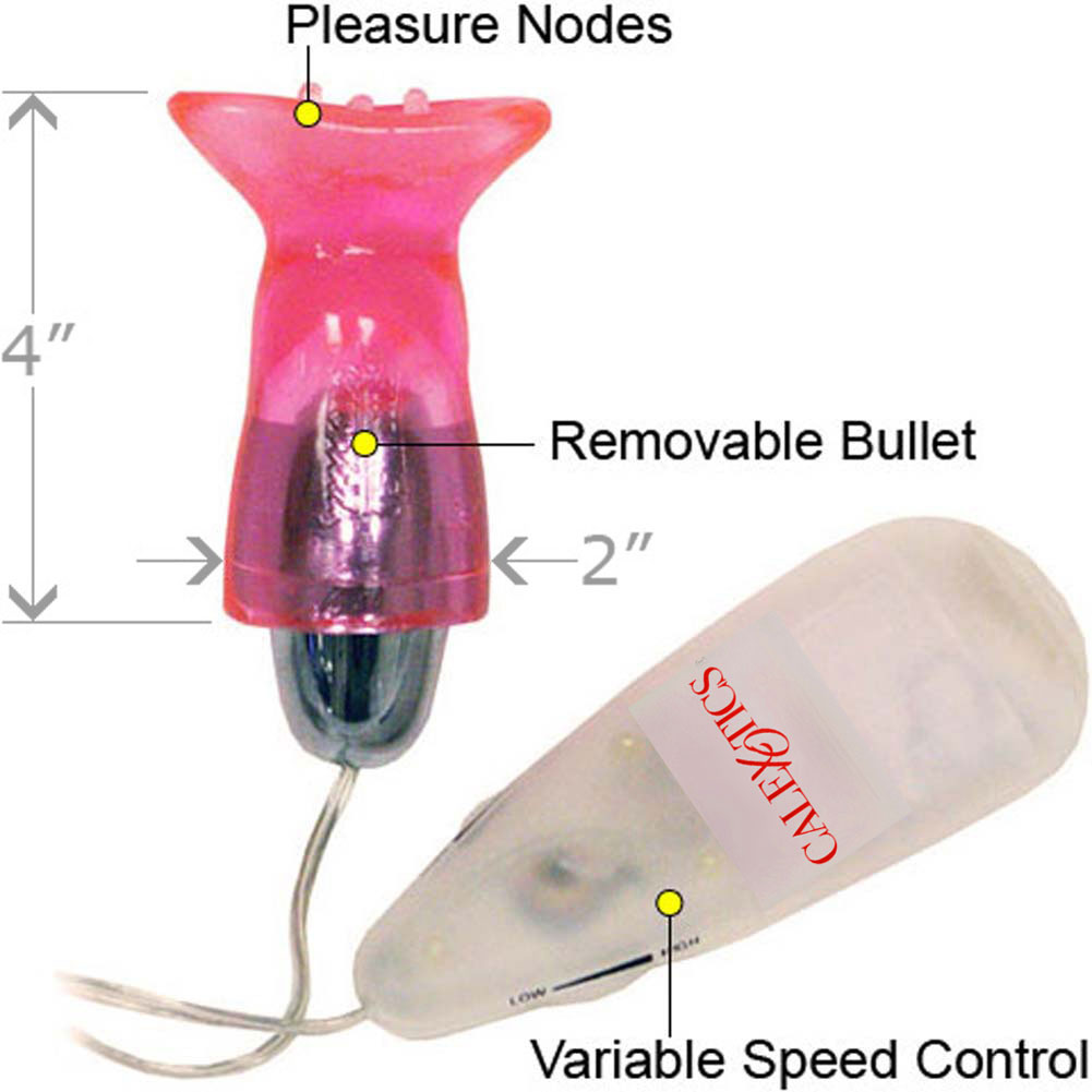 California Exotics Pussy Pleaser Jelly Vibrating Suction Cap Pink - View #1
