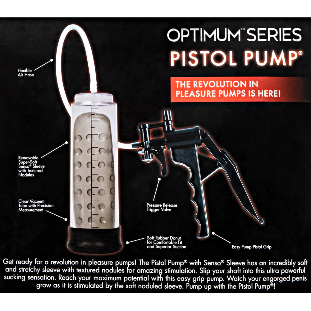 "Optimum Series Pistol Pump 8"" by 2.5"" Clear - View #1"