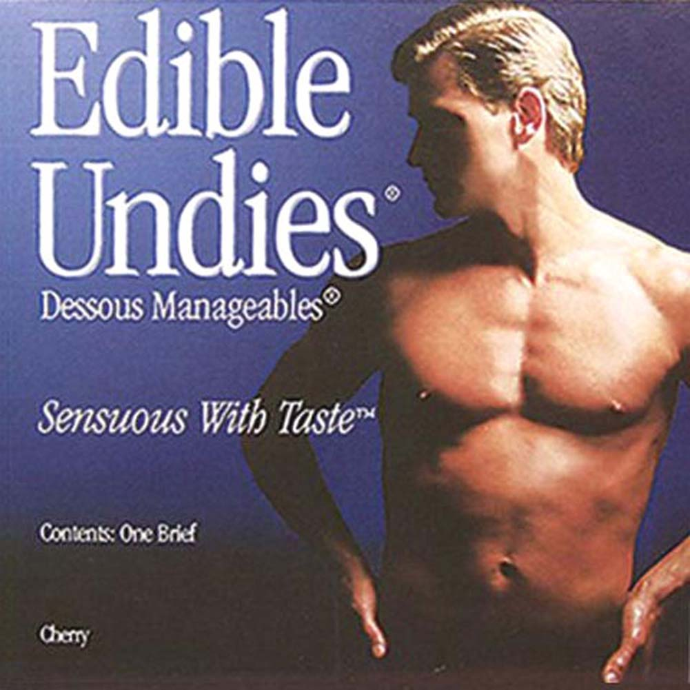 Edible Undies for Men Chocolate Strawberry - View #1