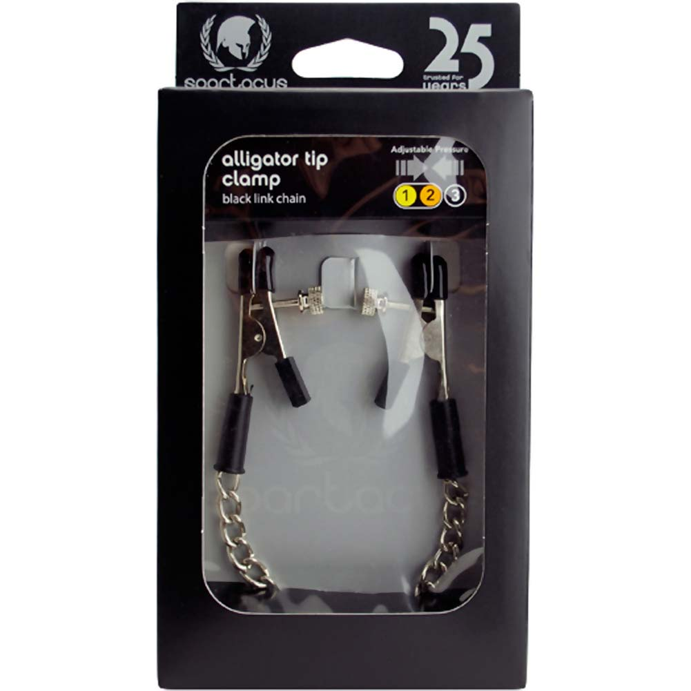 Spartacus Adjustable Alligator Tip Clamps with Link Chain - View #1
