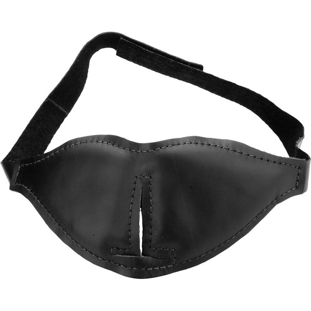 Spartacus Leather Total Blackout Blindfold One Size Black - View #2