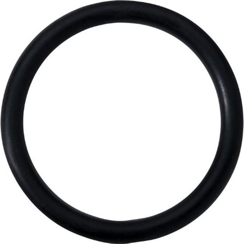 "Spartacus Soft Rubber Cockring 2"" Black - View #2"