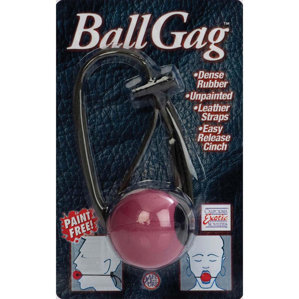 "Easy Release Rubber Ball Gag 2"" Pink - View #4"