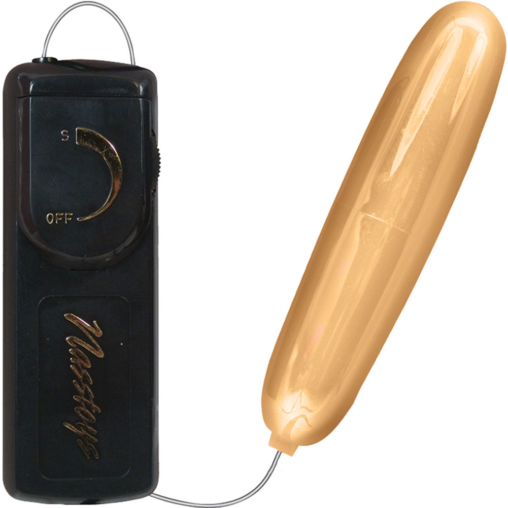 """Nasstoys Intimate Ultra Bullet Vibrator for Men and Women 4.25"""" Gold - View #2"""