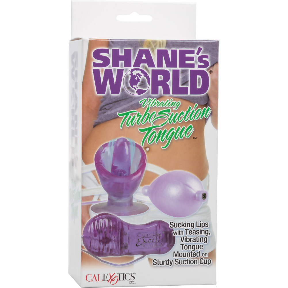 Shanes World Vibrating Turbo Suction Tongue with Hand Pump Purple - View #4