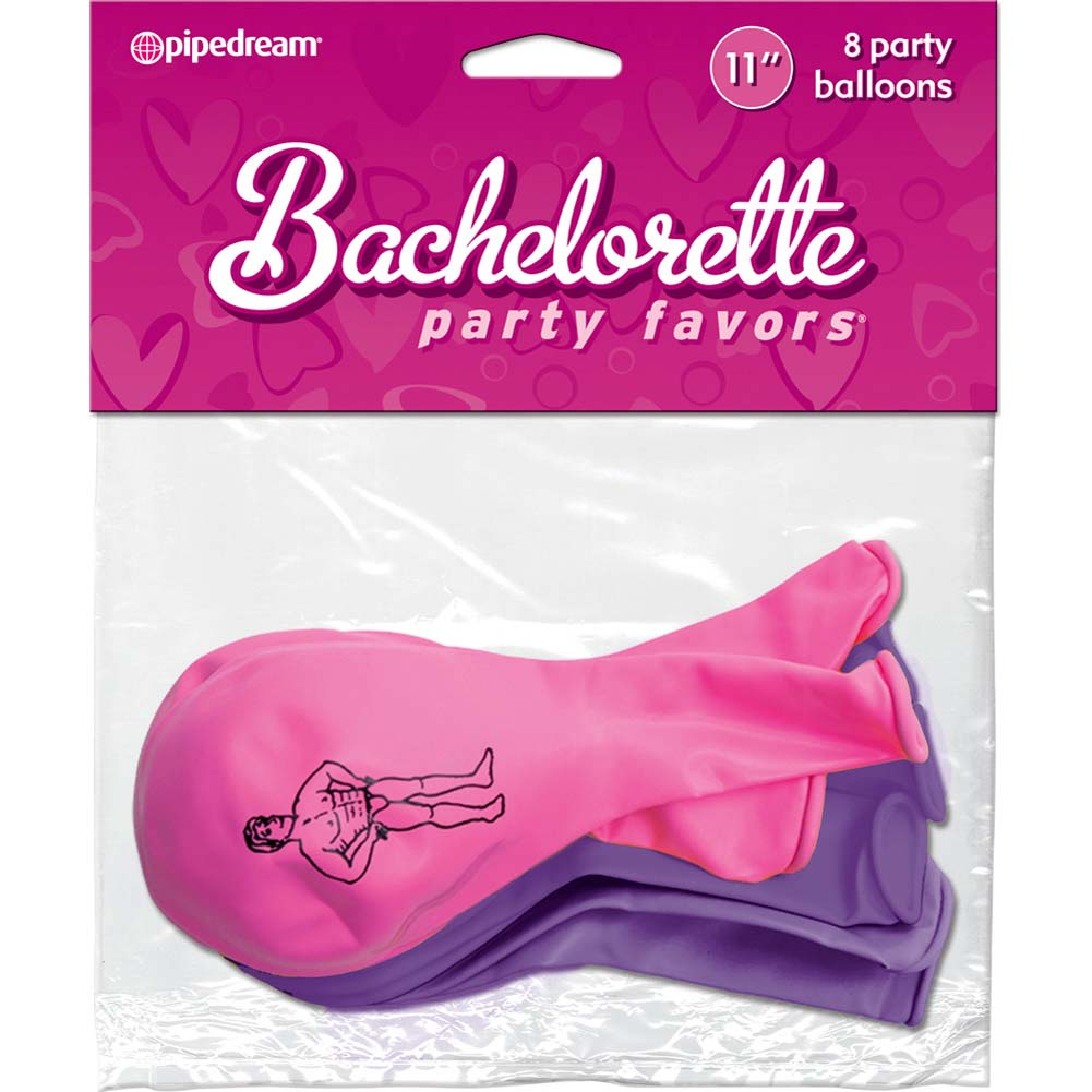 Bachelorette Party Favors Party Balloons 8 Piece Pink and Purple - View #1