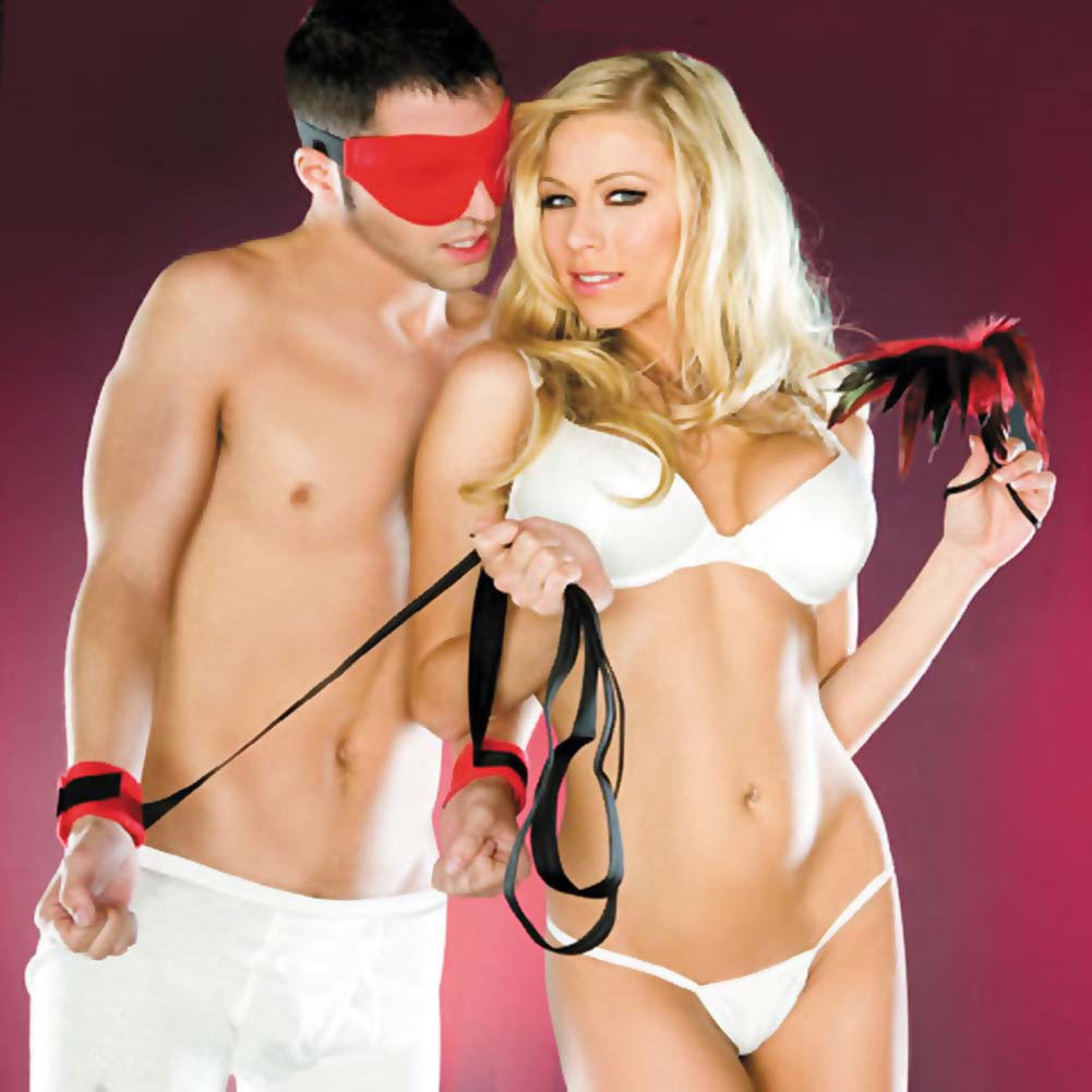 Sportsheets Sexy Slave Kit Red and Black - View #1