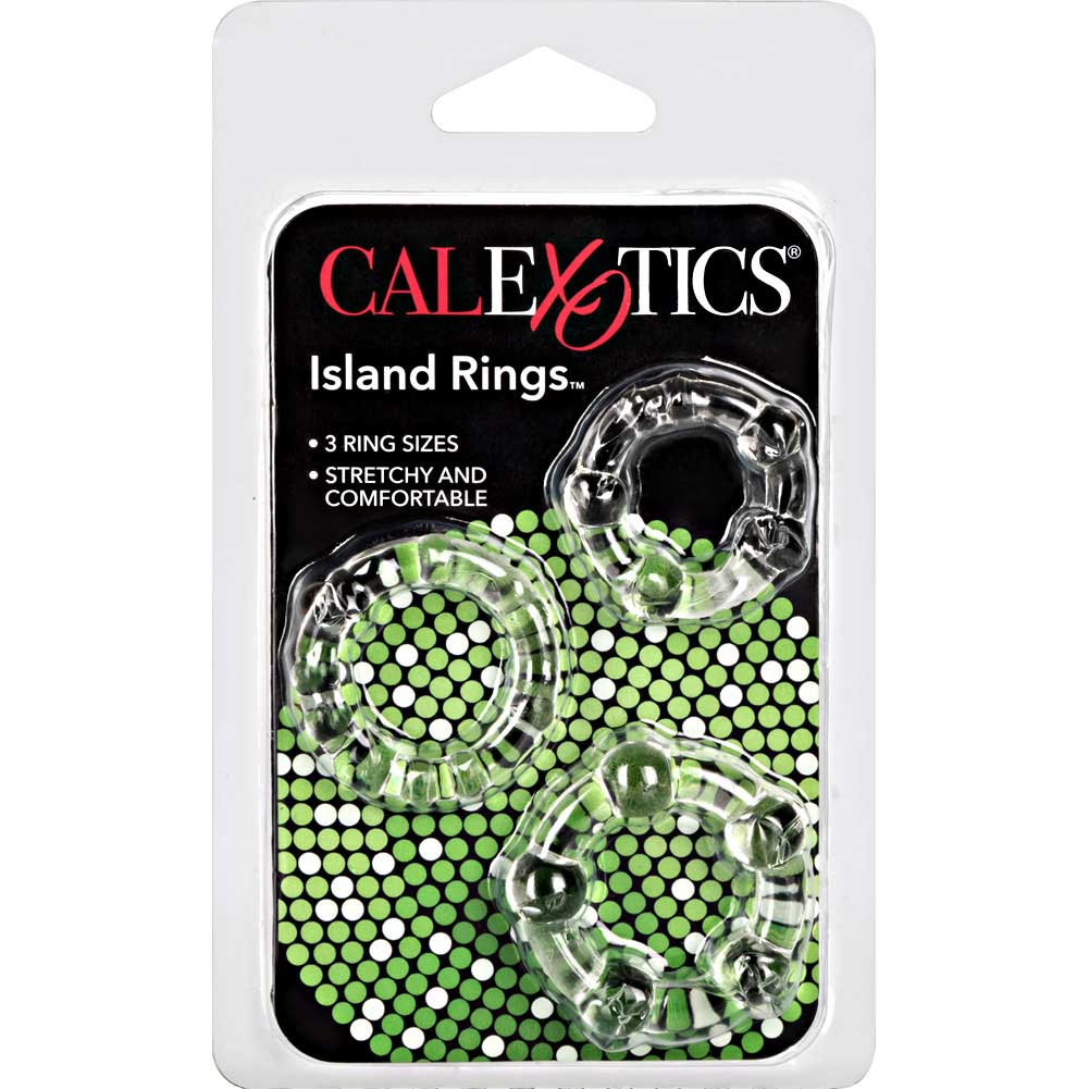 California Exotics Island Silicone Rings 3 Sizes Crystal Clear - View #4