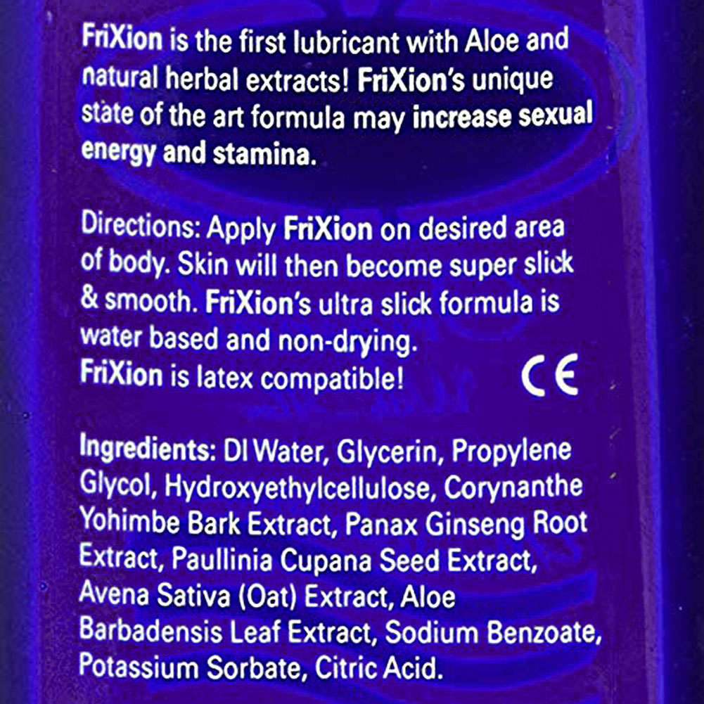 Frixion Natural Stamina Booster Personal Lubricant for Men 8 Fl.Oz 237 mL - View #1