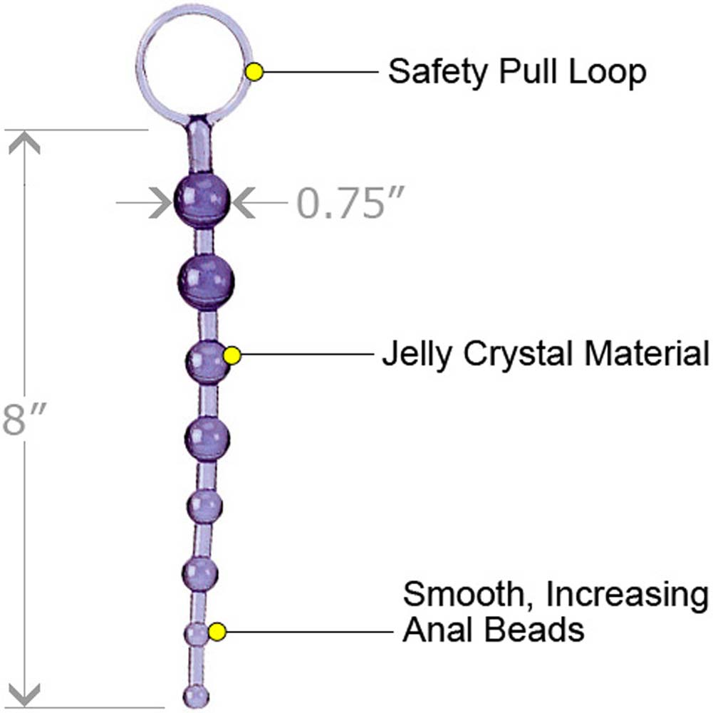 """ShaneS World Anal 101 Intro Jelly Beads 8"""" Purple - View #1"""