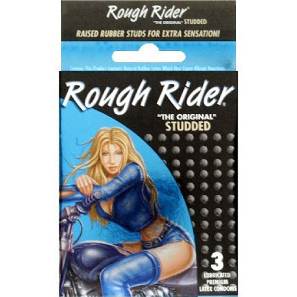 Rough Rider Studded Condoms 3 Pack - View #1