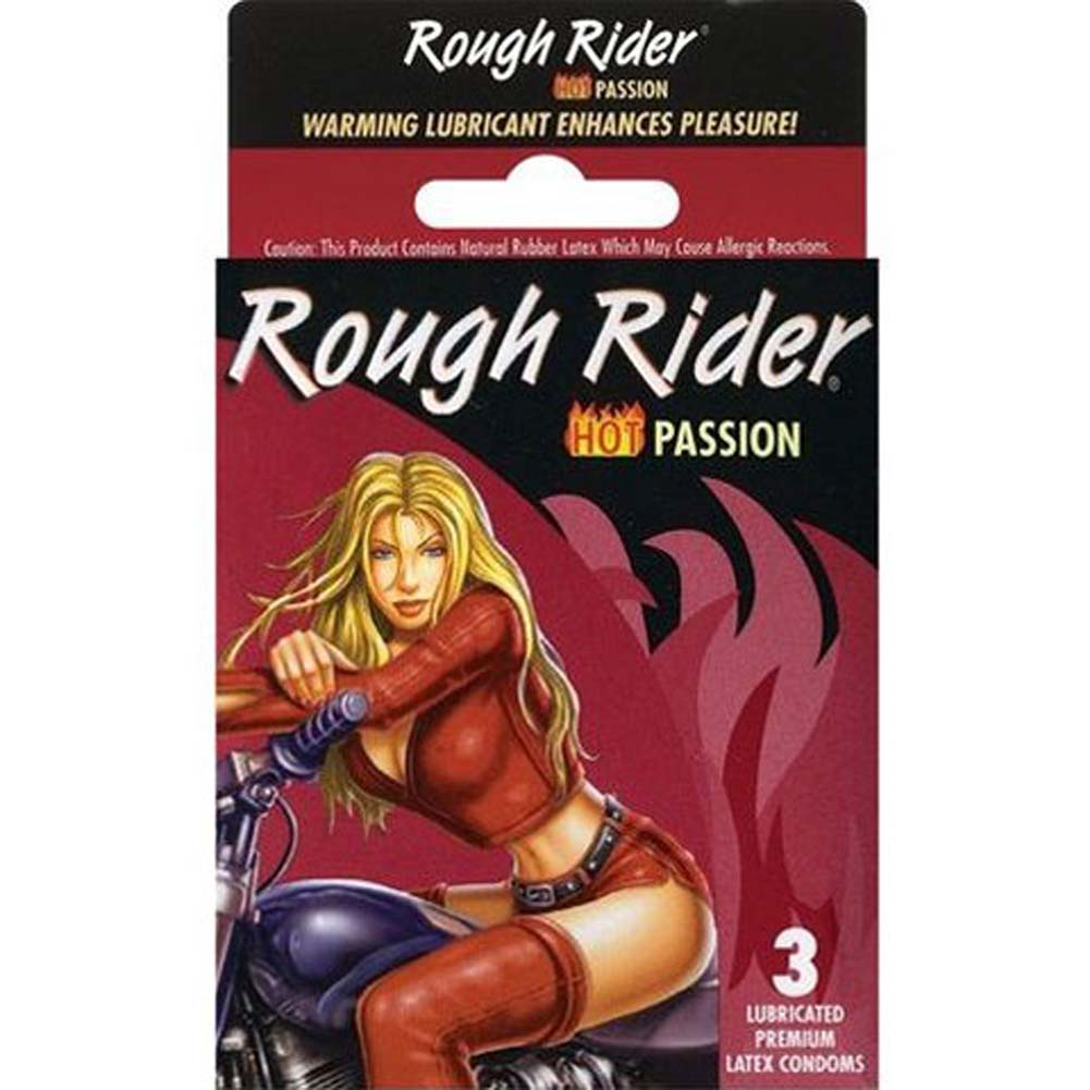Rough Rider Hot Passion Condoms 3 Pack - View #1