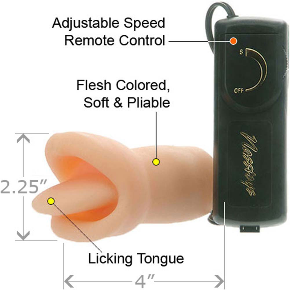 "Nasstoys Velvet Touch Clit Licker Vibe 4"" Flesh - View #1"