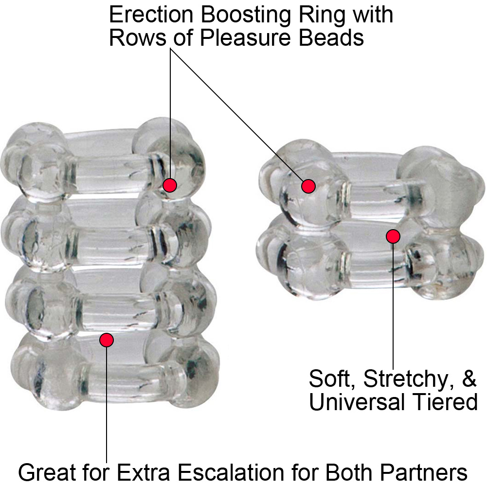 COLT by CalExotics Enhancer Rings Pack of 2 Cock Rings Clear - View #1