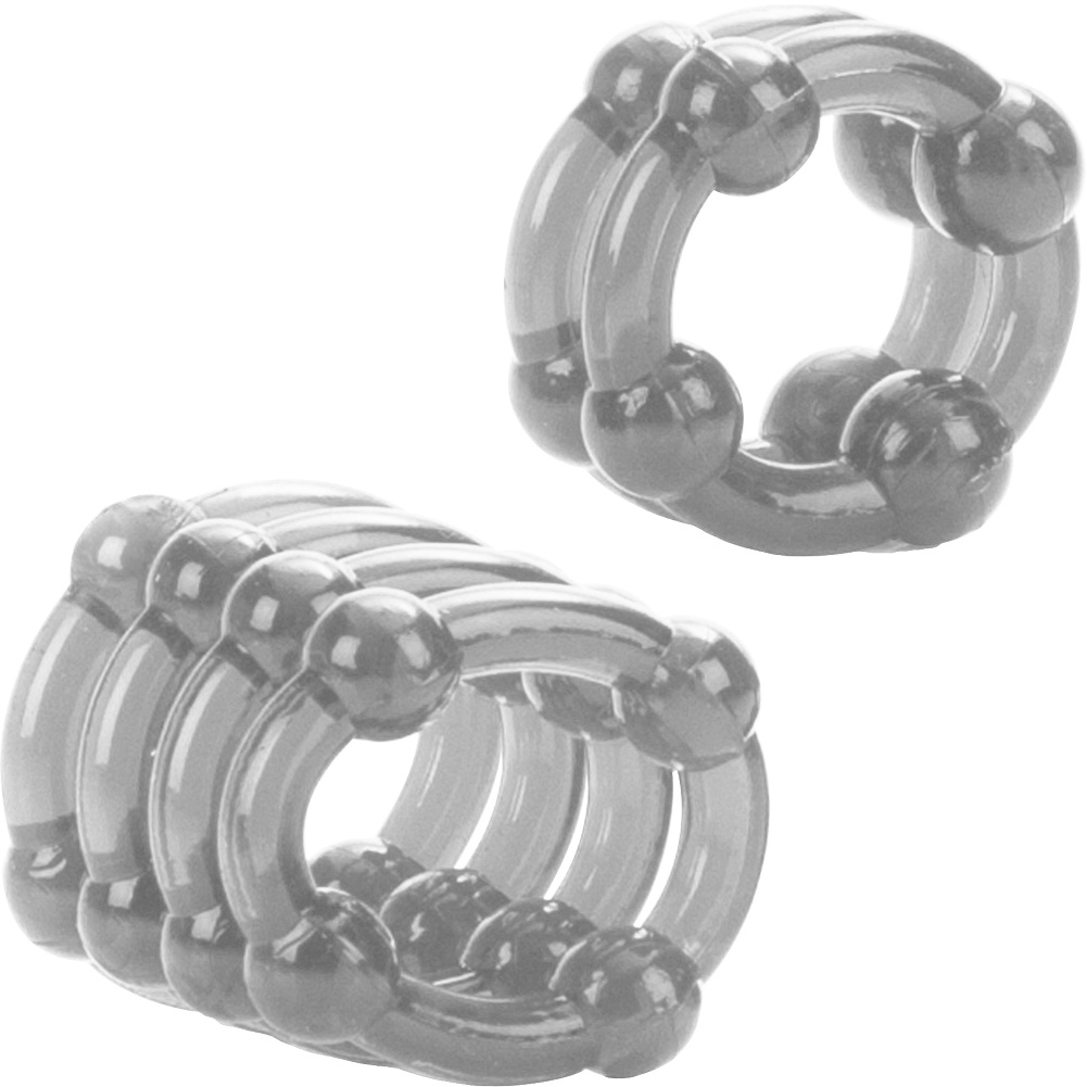 COLT by CalExotics Enhancer Rings Pack of 2 Cock Rings Clear - View #3
